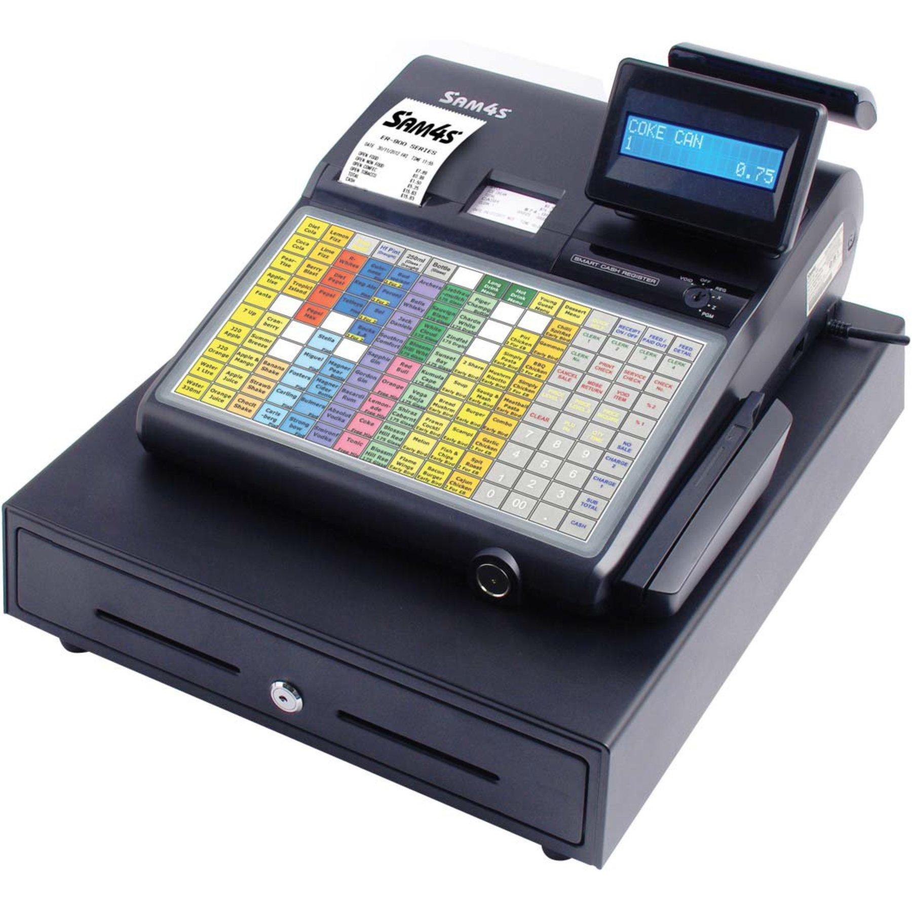 Sam4s Er940 Cash Register With Flat Keyboard Cash