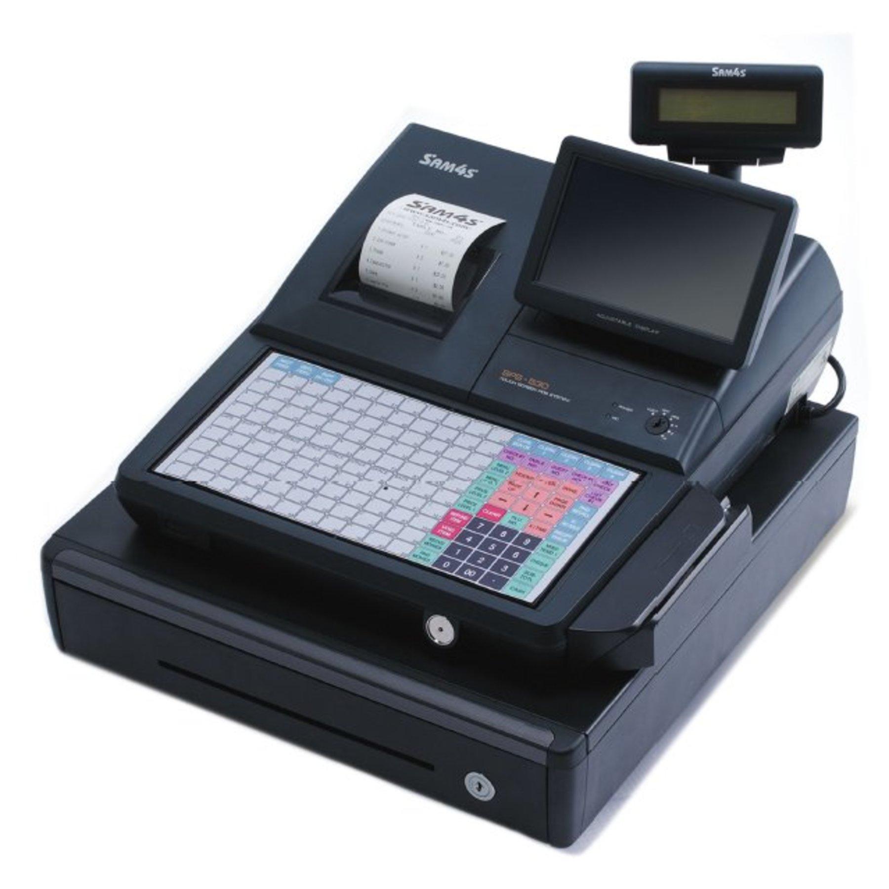 Sam4s Sps530 Cash Register With Flat Keyboard Cash