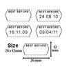 Best Before 26 x 12 Single Line Price Gun Labels - 3695