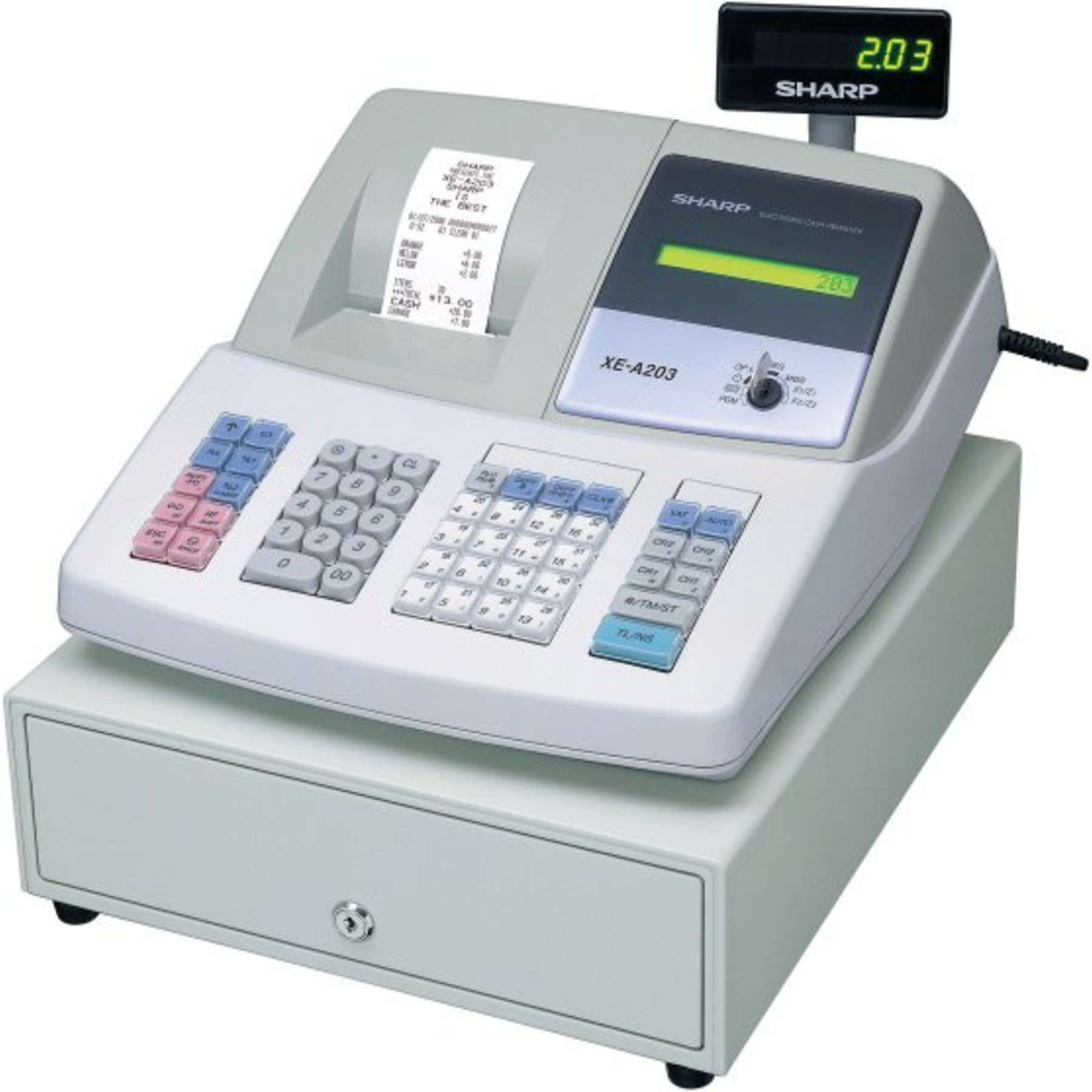 sharp xe a206. sharp xe a203 cash register thermal printing graphic logo a206 d